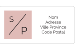 Traitement monogramme Étiquettes de classement écologiques - gabarit prédéfini. <br/>Utilisez notre logiciel Avery Design & Print Online pour personnaliser facilement la conception.