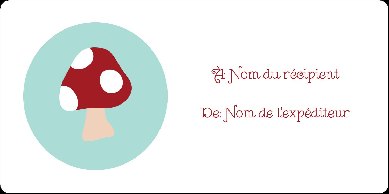 """3-7/16"""" x ⅔"""" Étiquettes de classement écologiques - Lutin de Noël"""
