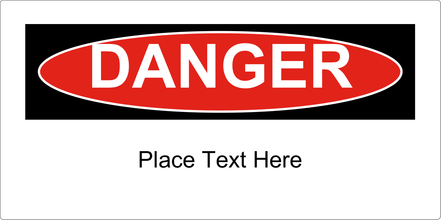"4"" x 2"" Industrial Label - Danger"