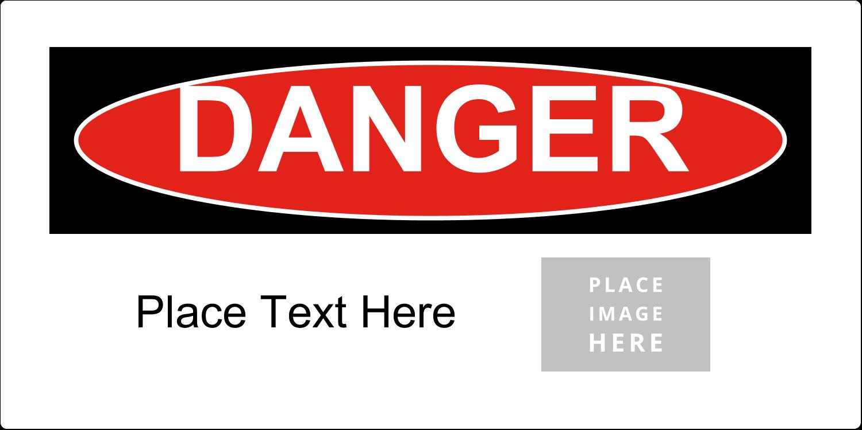 """4"""" x 2"""" Industrial Label - Danger"""