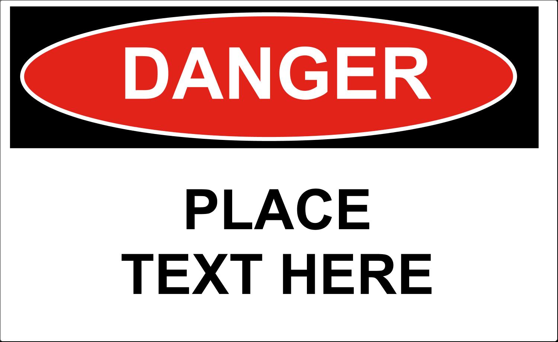 """4¾"""" x 7¾"""" Industrial Label - Danger"""