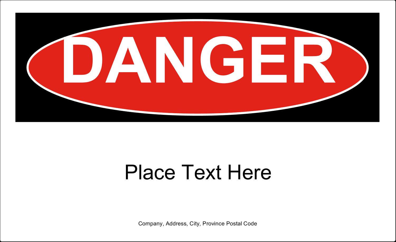 """7¾"""" x 4¾"""" Industrial Label - Danger"""