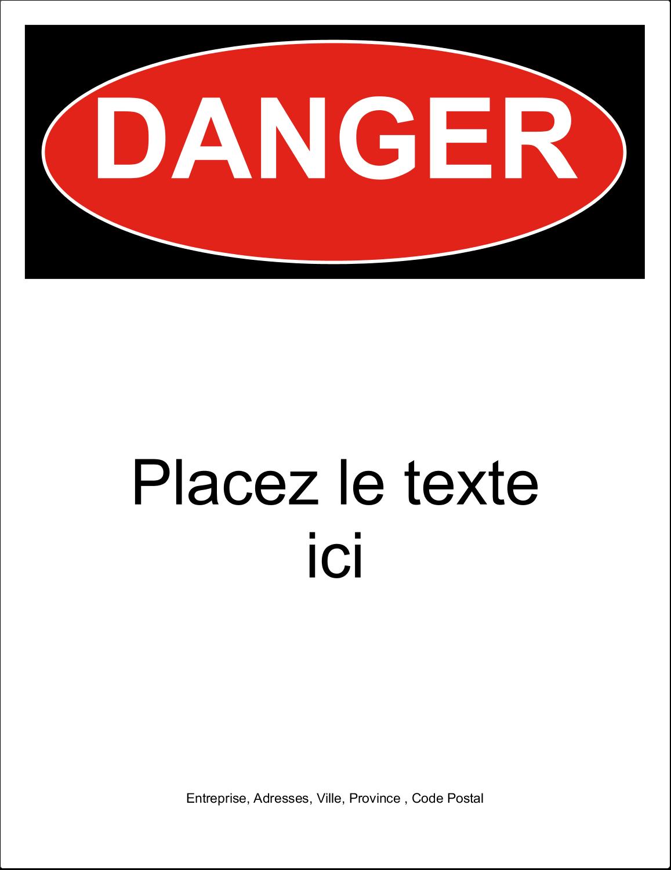 """4¾"""" x 7¾"""" Étiquette Industrielles - Danger"""