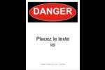 Danger Étiquette Industrielles - gabarit prédéfini. <br/>Utilisez notre logiciel Avery Design & Print Online pour personnaliser facilement la conception.