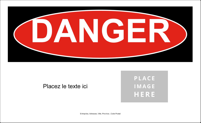 """3½"""" x 5"""" Étiquette Industrielles - Danger"""