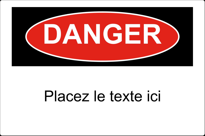 """3½"""" x 1-1/32"""" Étiquette Industrielles - Danger"""