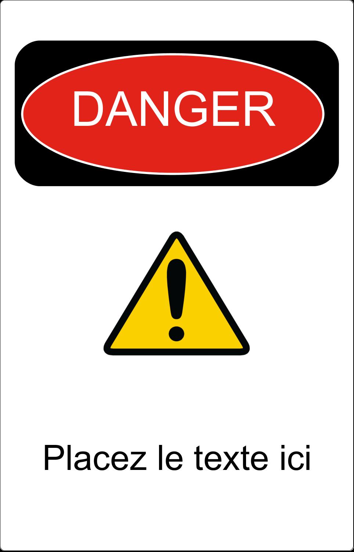 """3½"""" x 4½"""" Étiquette Industrielles - Danger"""