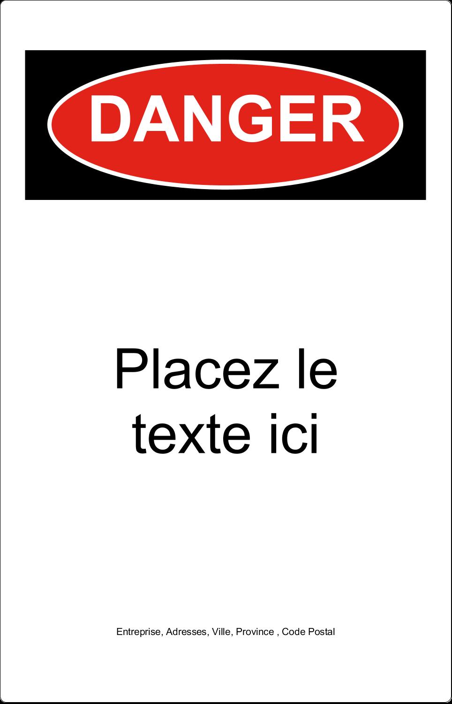 """7½"""" x 5"""" Étiquette Industrielles - Danger"""