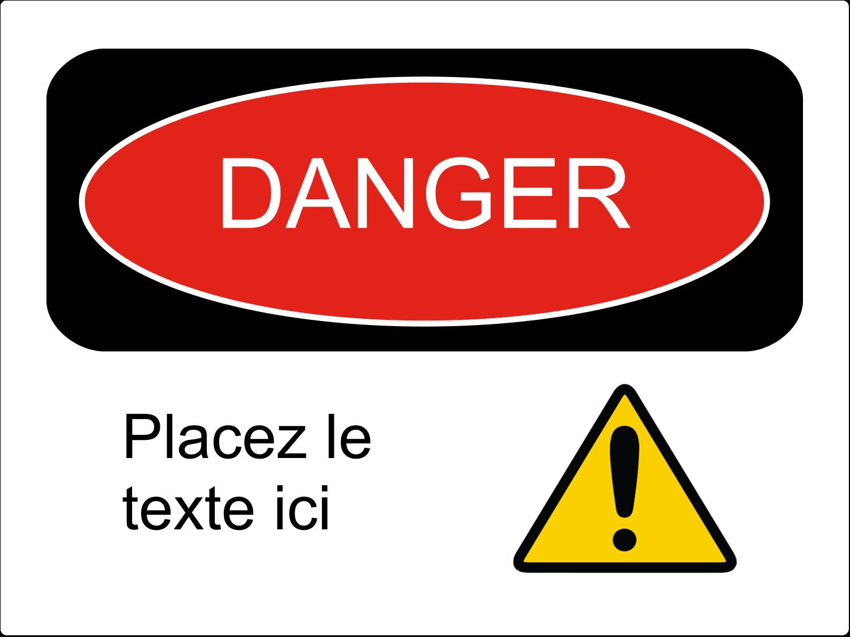 """3-5/16"""" x 2-5/16"""" Étiquette Industrielles - Danger"""