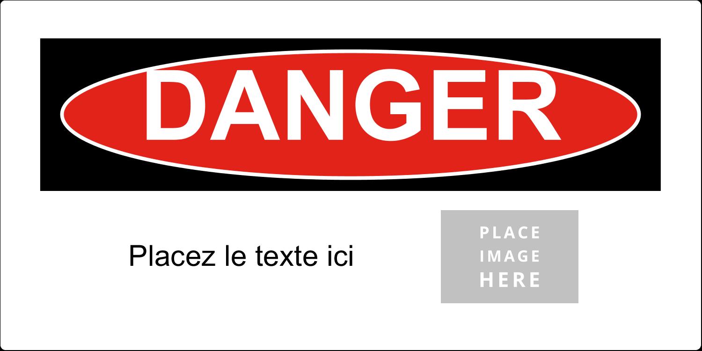 """2"""" x 4"""" Étiquette Industrielles - Danger"""