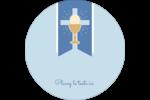 Première communion Étiquettes rondes - gabarit prédéfini. <br/>Utilisez notre logiciel Avery Design & Print Online pour personnaliser facilement la conception.