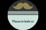 Moustache de papa Étiquettes rondes - gabarit prédéfini. <br/>Utilisez notre logiciel Avery Design & Print Online pour personnaliser facilement la conception.