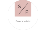 Traitement monogramme Étiquettes rondes - gabarit prédéfini. <br/>Utilisez notre logiciel Avery Design & Print Online pour personnaliser facilement la conception.