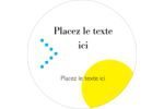 Traitement couleur Étiquettes rondes - gabarit prédéfini. <br/>Utilisez notre logiciel Avery Design & Print Online pour personnaliser facilement la conception.