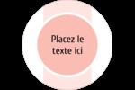 Traitement Sphère rose Étiquettes rondes - gabarit prédéfini. <br/>Utilisez notre logiciel Avery Design & Print Online pour personnaliser facilement la conception.