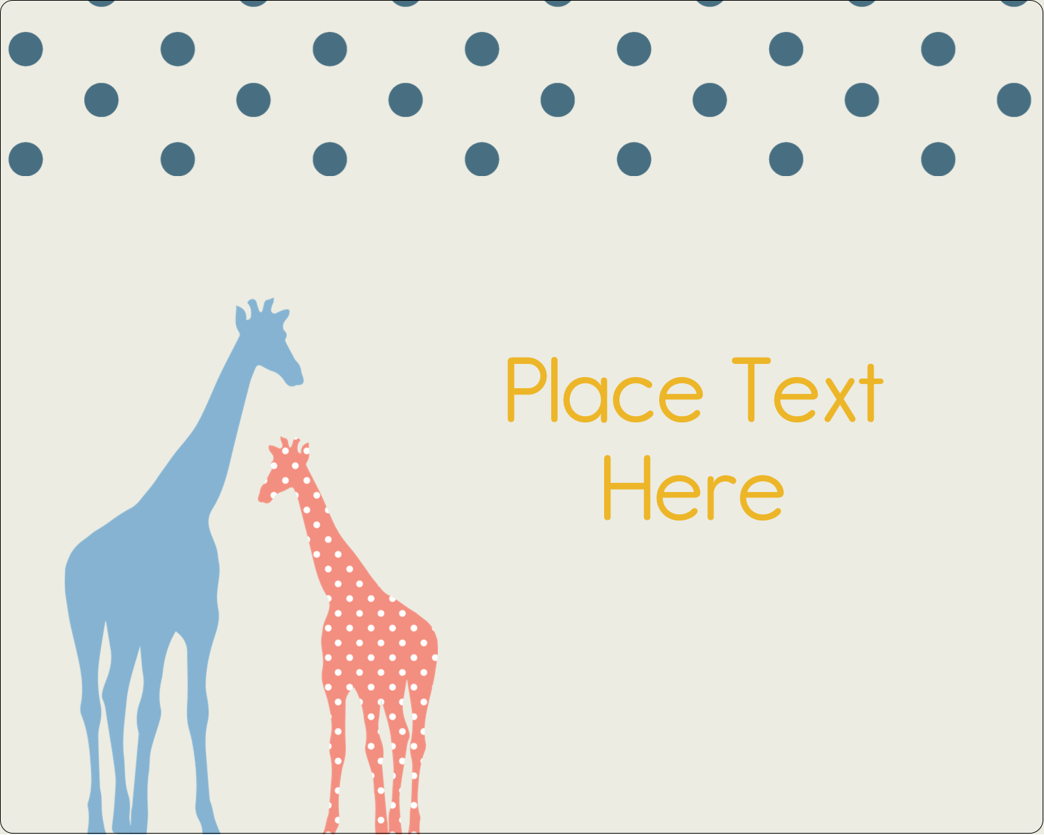 Giraffe Party Predesigned Template For Your Next Creative Project