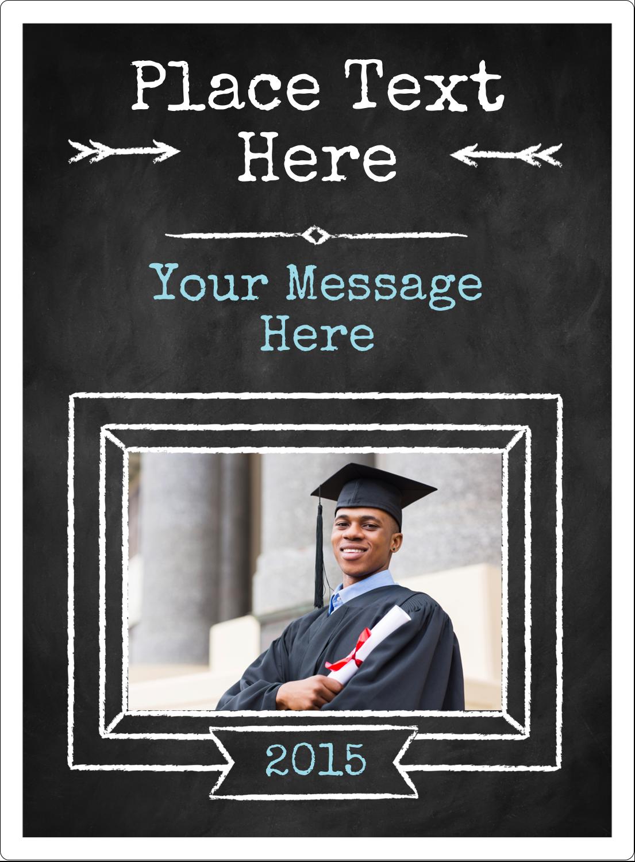 "4¾"" x 3½"" Rectangular Label - Chalk Inspired Graduation"