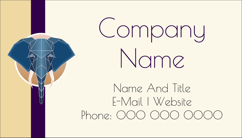 "2"" x 3½"" Business Card - Geometric Elephant"
