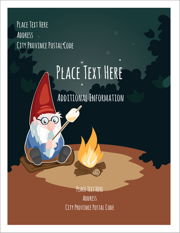 "4¼"" x 5½"" Postcard - Gnome Camping"