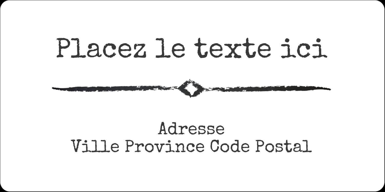 """3-7/16"""" x ⅔"""" Étiquettes de classement écologiques - Diplôme et craie"""