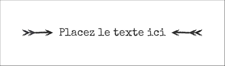 "3½"" x 11"" Affichette - Diplôme et craie"