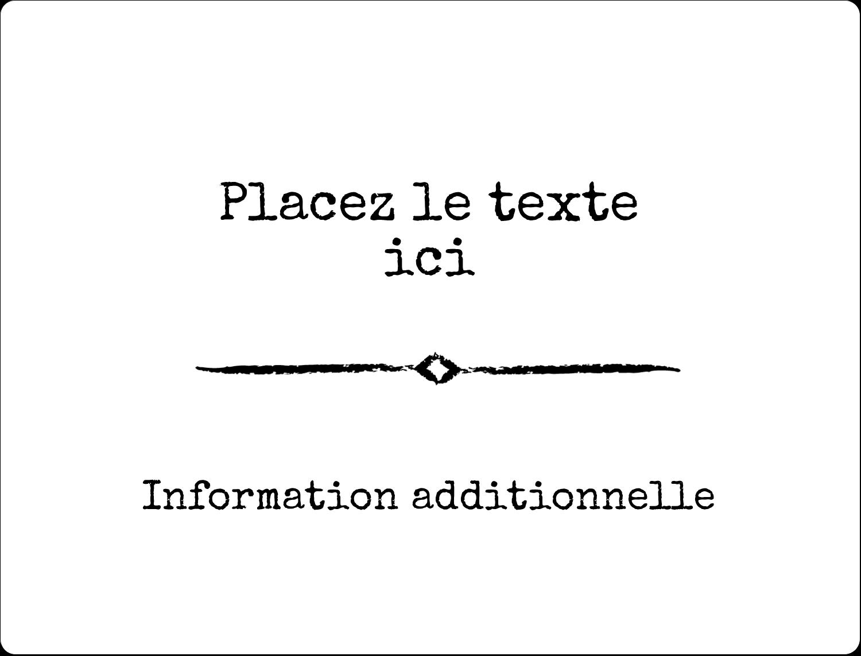 """8⅛"""" x 5"""" Étiquettes d'expéditions - Diplôme et craie"""