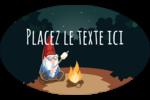 Gnome en camping Étiquettes carrées - gabarit prédéfini. <br/>Utilisez notre logiciel Avery Design & Print Online pour personnaliser facilement la conception.