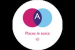 Styliste Étiquettes arrondies - gabarit prédéfini. <br/>Utilisez notre logiciel Avery Design & Print Online pour personnaliser facilement la conception.