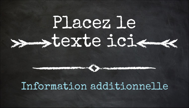 """3½"""" x 2"""" Carte d'affaire - Diplôme et craie"""