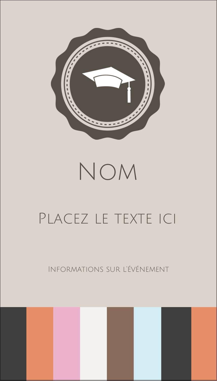 """3½"""" x 2"""" Carte d'affaire - Mortier de diplômé"""