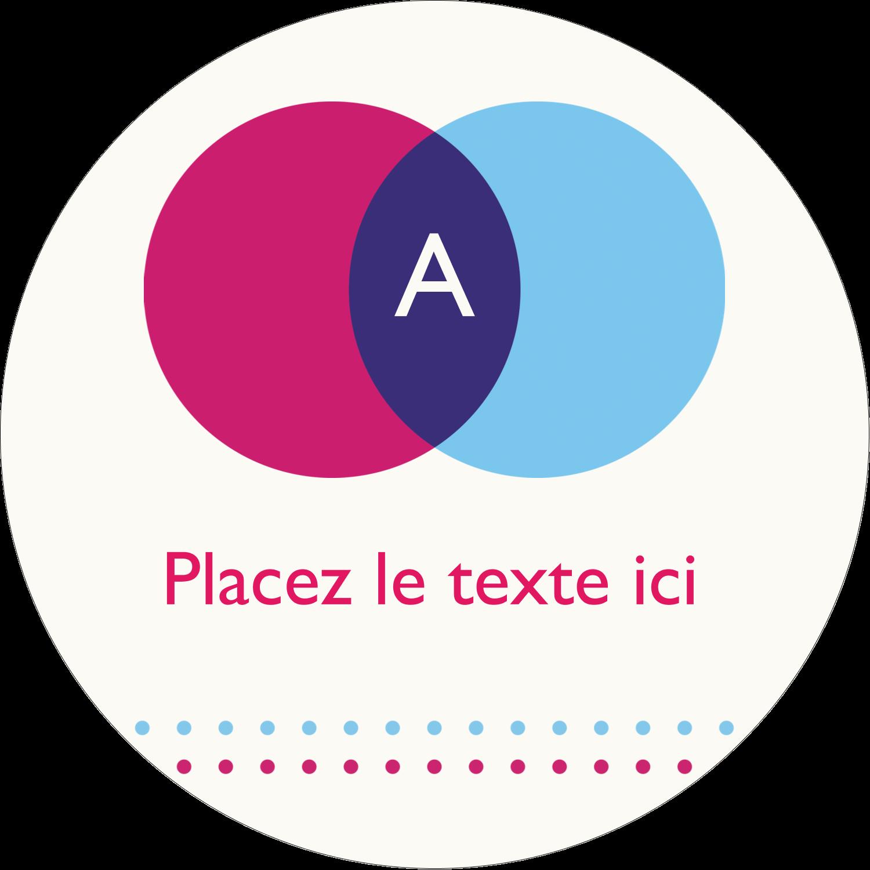 """3"""" Diameter Étiquettes rondes - Styliste"""