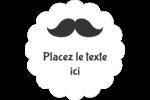Moustache de papa Étiquettes festonnées - gabarit prédéfini. <br/>Utilisez notre logiciel Avery Design & Print Online pour personnaliser facilement la conception.