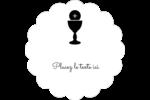 Première communion Étiquettes festonnées - gabarit prédéfini. <br/>Utilisez notre logiciel Avery Design & Print Online pour personnaliser facilement la conception.