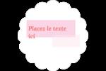 Traitement rose Étiquettes festonnées - gabarit prédéfini. <br/>Utilisez notre logiciel Avery Design & Print Online pour personnaliser facilement la conception.