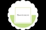 Traitement en vert Étiquettes festonnées - gabarit prédéfini. <br/>Utilisez notre logiciel Avery Design & Print Online pour personnaliser facilement la conception.
