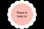 Traitement Sphère rose Étiquettes festonnées - gabarit prédéfini. <br/>Utilisez notre logiciel Avery Design & Print Online pour personnaliser facilement la conception.