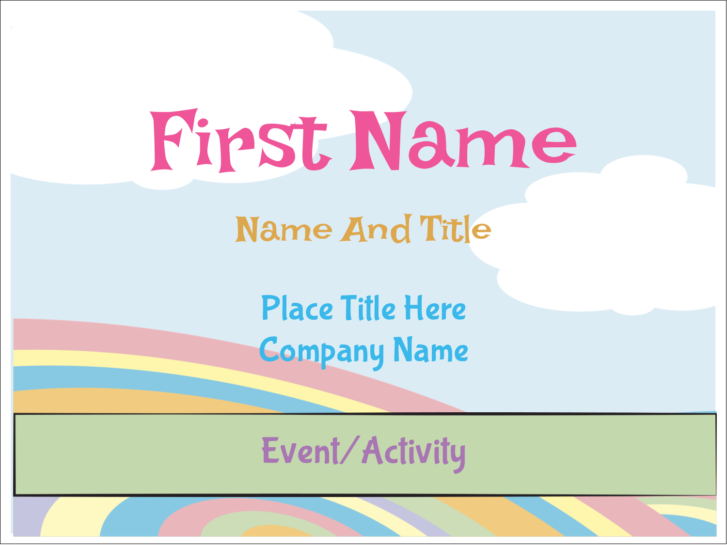 "3"" x 4"" Name Tags - Grad Whimsy"