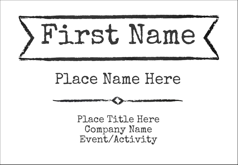 "3⅜"" x 2⅓"" Name Badge - Chalk Inspired Graduation"