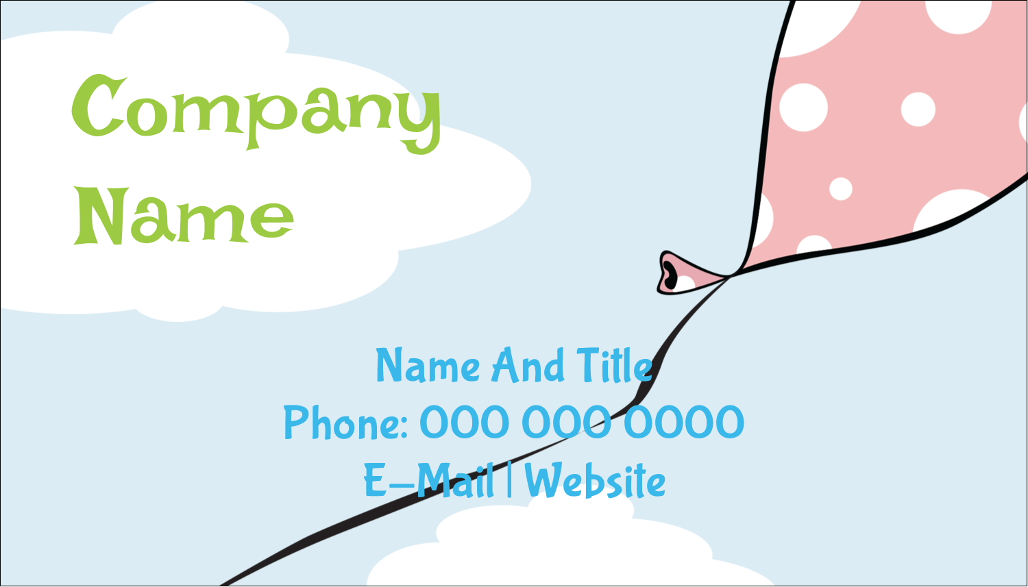 "2"" x 3½"" Business Card - Grad Whimsy"