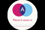Styliste Étiquettes rondes - gabarit prédéfini. <br/>Utilisez notre logiciel Avery Design & Print Online pour personnaliser facilement la conception.