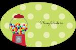 Boules de gomme Étiquettes carrées - gabarit prédéfini. <br/>Utilisez notre logiciel Avery Design & Print Online pour personnaliser facilement la conception.
