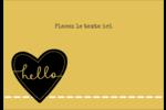Cœur brodé hello Étiquettes à codage couleur - gabarit prédéfini. <br/>Utilisez notre logiciel Avery Design & Print Online pour personnaliser facilement la conception.