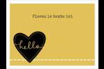 Cœur brodé hello Badges - gabarit prédéfini. <br/>Utilisez notre logiciel Avery Design & Print Online pour personnaliser facilement la conception.