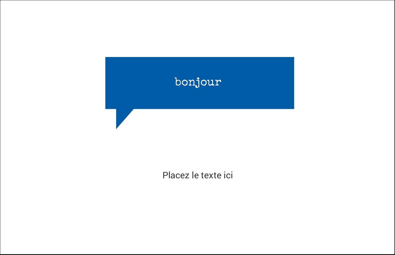 """8½"""" x 11"""" Cartes Et Articles D'Artisanat Imprimables - Bonjour"""