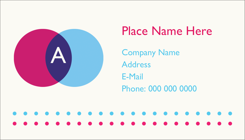 "2"" x 3½"" Business Card - Graphic Designer"