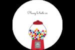 Boules de gomme Étiquettes arrondies - gabarit prédéfini. <br/>Utilisez notre logiciel Avery Design & Print Online pour personnaliser facilement la conception.