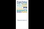 Papas du monde Cartes Pour Le Bureau - gabarit prédéfini. <br/>Utilisez notre logiciel Avery Design & Print Online pour personnaliser facilement la conception.