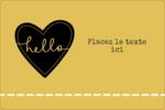 Cœur brodé hello Étiquettes rectangulaires - gabarit prédéfini. <br/>Utilisez notre logiciel Avery Design & Print Online pour personnaliser facilement la conception.