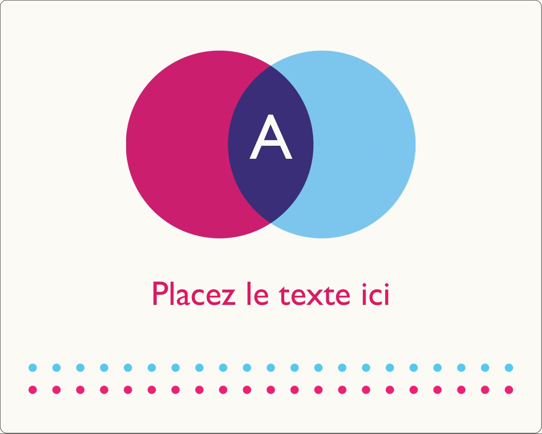"""2"""" Diameter Étiquettes rondes gaufrées - Styliste"""
