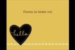 Cœur brodé hello Étiquettes rondes gaufrées - gabarit prédéfini. <br/>Utilisez notre logiciel Avery Design & Print Online pour personnaliser facilement la conception.